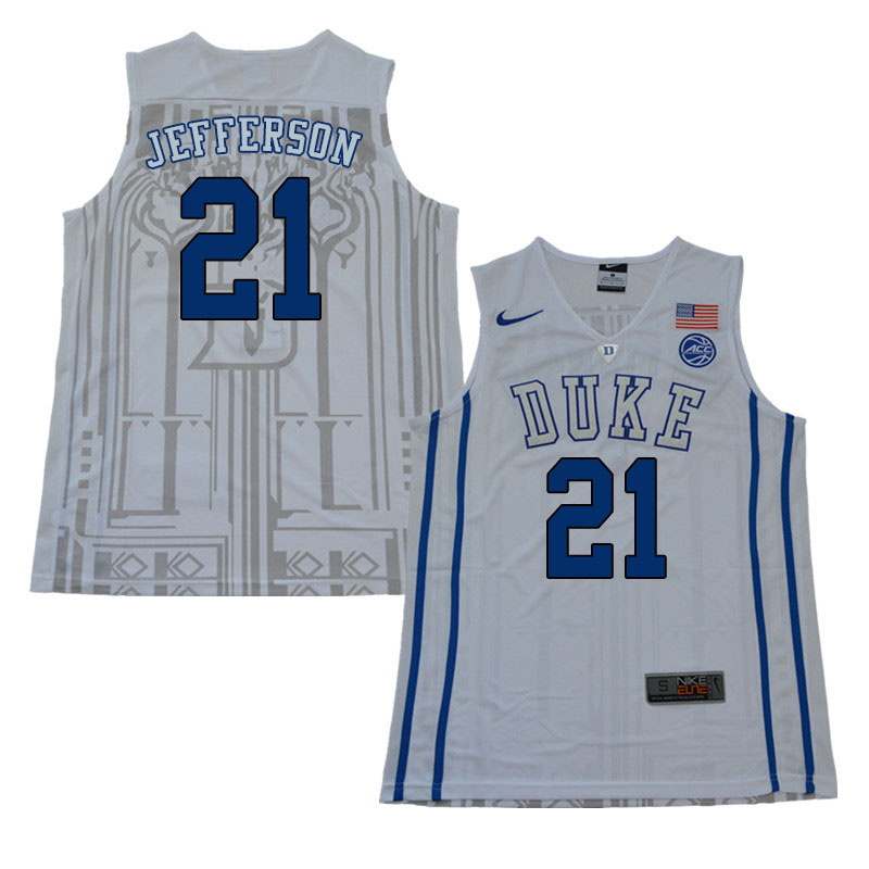newest collection 04806 a49c7 Amile Jefferson Jersey : Official Duke Blue Devils ...