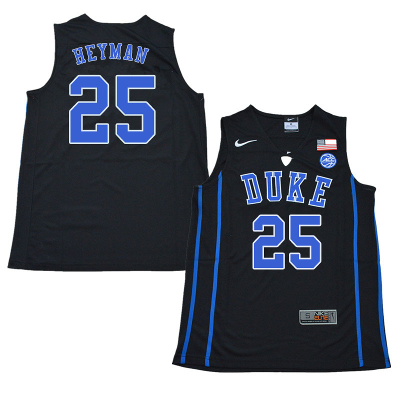 2018 Men #25 Art Heyman Duke Blue Devils College Basketball Jerseys Sale-Black