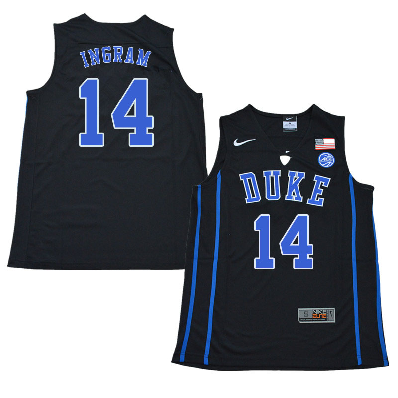 2018 Men #14 Brandon Ingram Duke Blue Devils College Basketball Jerseys Sale-Black