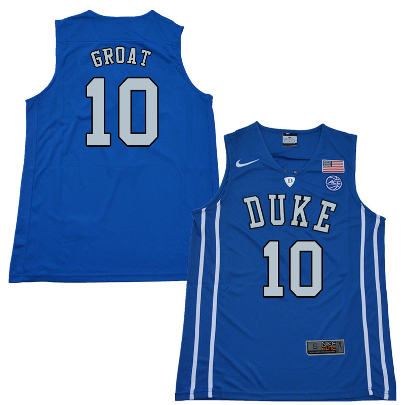 2018 Men #10 Dick Groat Duke Blue Devils College Basketball Jerseys Sale-Blue