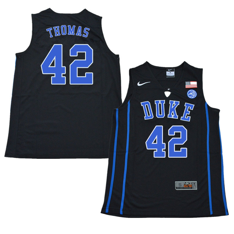 2018 Men #42 Lance Thomas Duke Blue Devils College Basketball Jerseys Sale-Black