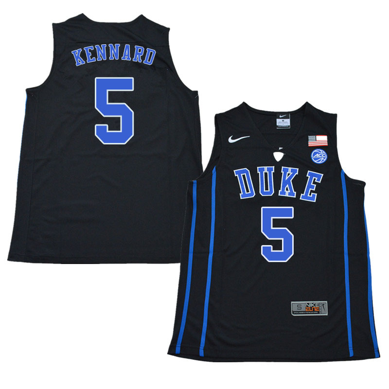 2018 Men #5 Luke Kennard Duke Blue Devils College Basketball Jerseys Sale-Black