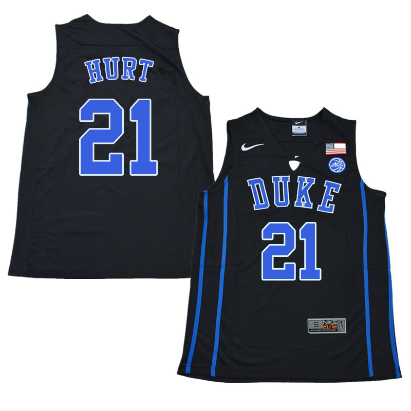 Men #21 Matthew Hurt Duke Blue Devils College Basketball Jerseys Sale-Black