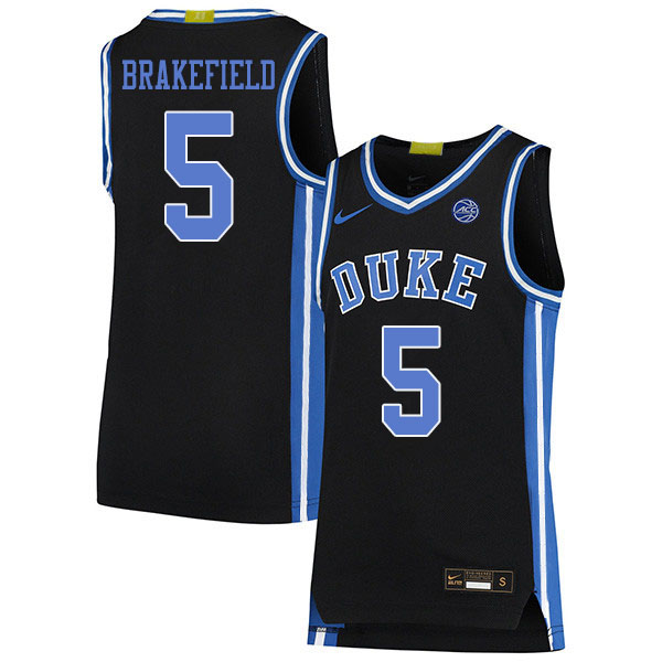 Men #5 Jaemyn Brakefield Duke Blue Devils College Basketball Jerseys Sale-Black