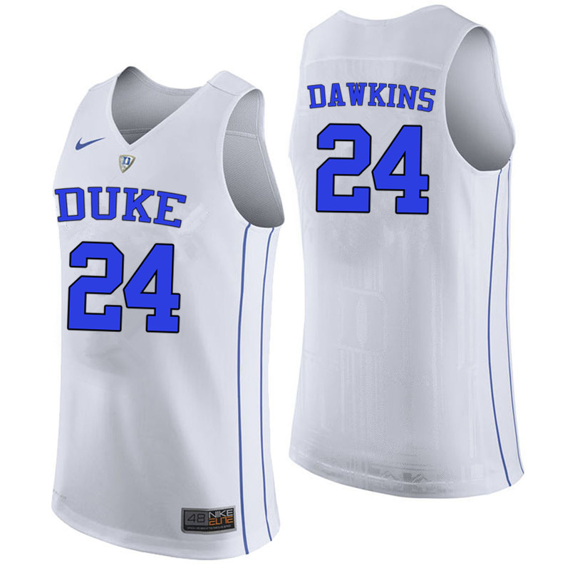 competitive price 191aa 64a37 Johnny Dawkins Jersey : Official Duke Blue Devils Basketball ...