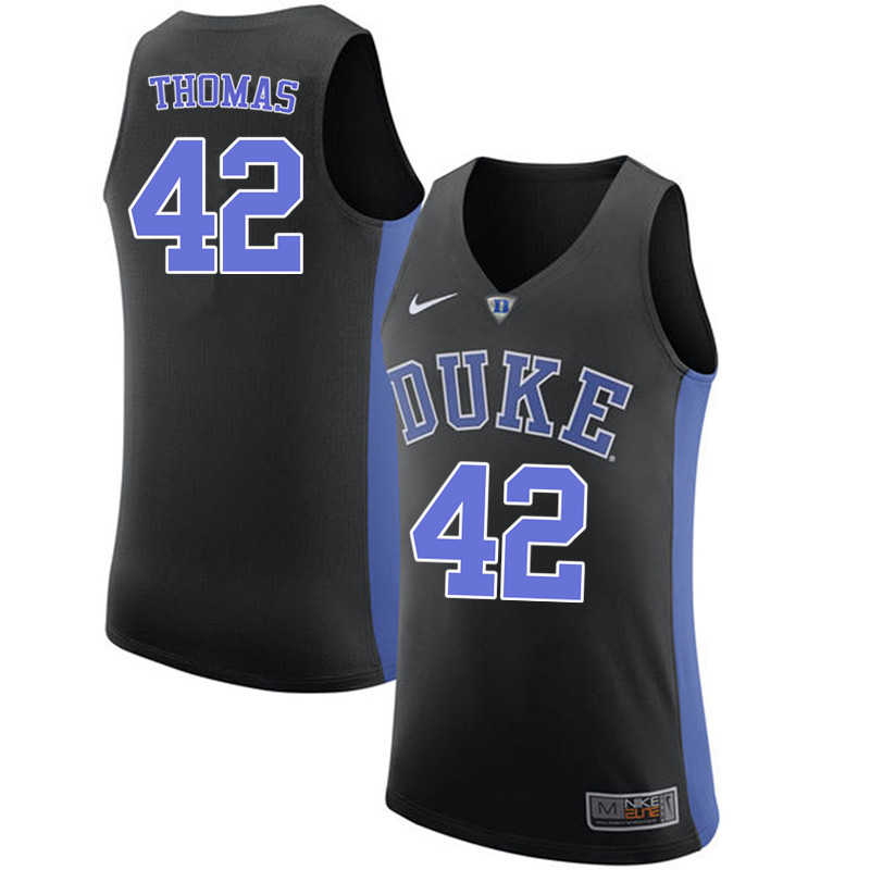 Men #42 Lance Thomas Duke Blue Devils College Basketball Jerseys-Black