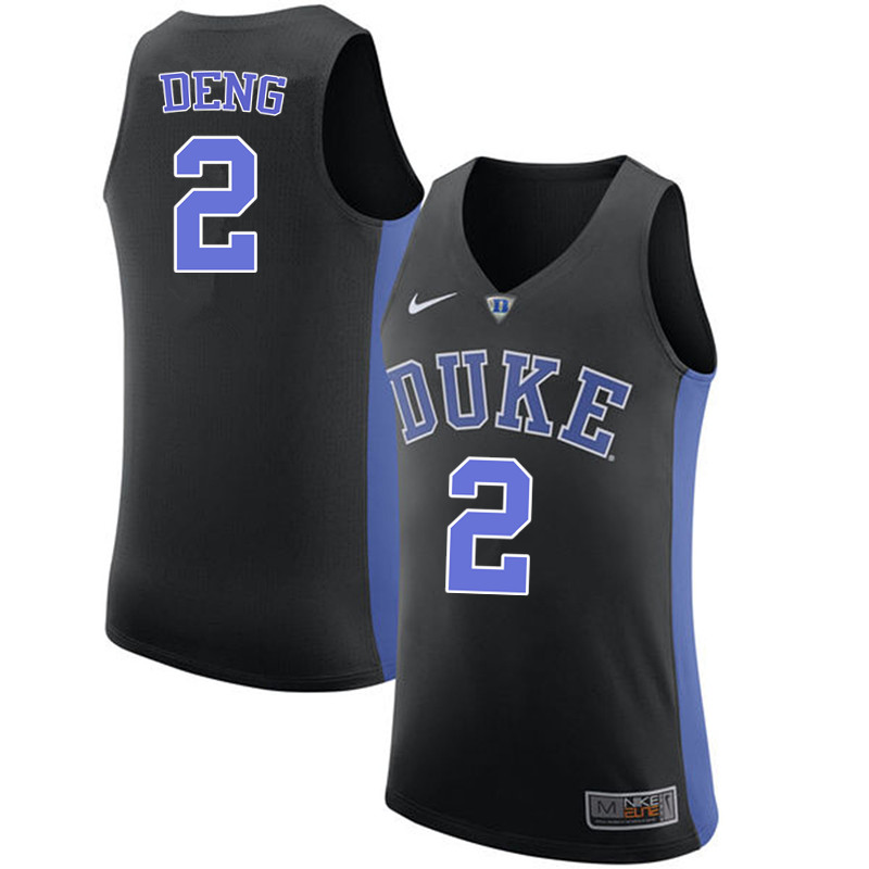 Men #2 Luol Deng Duke Blue Devils College Basketball Jerseys-Black