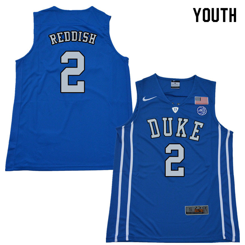 2018 Youth #2 Cam Reddish Duke Blue Devils College Basketball Jerseys Sale-Blue