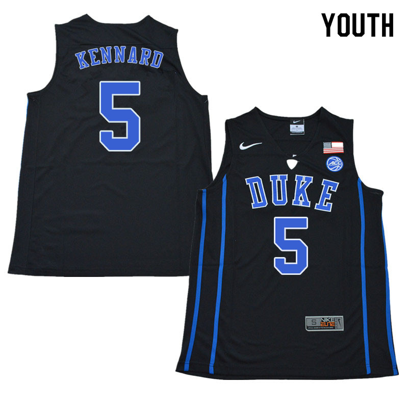 2018 Youth #5 Luke Kennard Duke Blue Devils College Basketball Jerseys Sale-Black