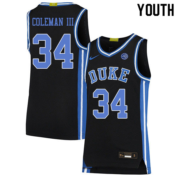 Youth #34 Henry Coleman III Duke Blue Devils College Basketball Jerseys Sale-Black
